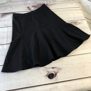 Cabi Black Peplum Skirt Side Zipper Size 0